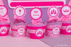 Pink Princess Crown Birthday Party | CatchMyParty.com