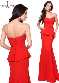 5ca2017e18 Abby Paris by Lucci Lu 93008 is a sleek and sophisticated strapless evening  gown with a