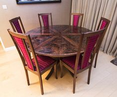 Johnson Furniture is a cabinet making business producing bespoke furniture specialising in expanding circular dining tables Expanding Round Table, Circular Dining Table, Expandable Dining Table, Cabinet Making, Bespoke Furniture, Outdoor Furniture, Outdoor Decor, Decoration, Chairs