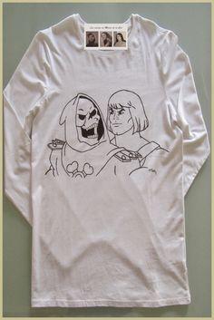 Camiseta personalizada y hecha a mano heman y skeletor las cositas de maria de la cal