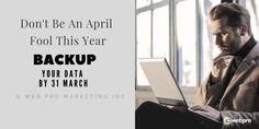 Time to Backup Your Data? March Is the Deadline! Marketing Tactics, Seo Marketing, Internet Marketing, Online Marketing, Social Media Marketing, World Backup Day, Local Seo Services, App Development, Infographics