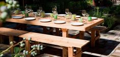 If you don't like 6 foot rental tables. Check these out. Cool dishes too!