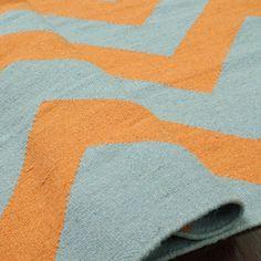 Aaron Rug in Orange