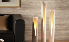 clever -- PCV pipes into soft lighting fixtures #DIY #reuse #upcycle