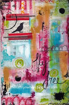 Layers upon layers this is what I love most about mixed media art and working in my art journal