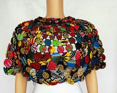 3 karim, collier africain, bijoux africains, collier, bijoux d'ankara, capes africains, bijoux ethniques, morceau de conversation