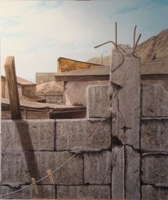 Luis Núñez San Martín, pintor #Antofagasta #Chile. Cuidado con el perro, primer lugar Rincones de mi Ciudad