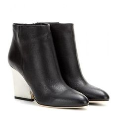 Jimmy Choo - Leather ankle boots #ankleboots #jimmychoo #designer #covetme