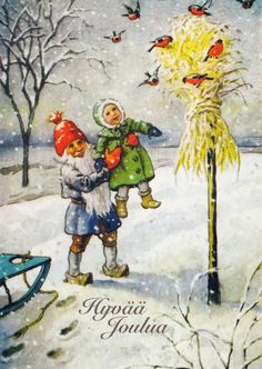 peintre illust jenny nystrom - Page 26 Xmas Elf, Old Christmas, Vintage Christmas Cards, Vintage Cards, Beautiful Christmas, Most Popular Artists, Old Cards, Old Postcards, Scandinavian Christmas