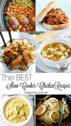 15 of the Best Chicken Slow Cooker Recipes to use in your crock pot for quick dinner ideas!