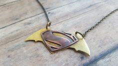 Handmade Copper and Brass Batman v Superman by GomeowCreations