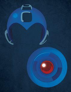 Ilustraciónes para libro tributo a Megaman by Christian , via Behance