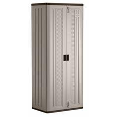Suncast Resin Base Storage Cabinet Locker 72 inch H x 30 inch W for Garage, Home, Shed, Gray Utility Storage Cabinet, Garage Storage Systems, Locker Storage, Storage Units, Garage Organization, Portable Tool Box, Metal Pegboard, Ultimate Garage, Mobile Storage