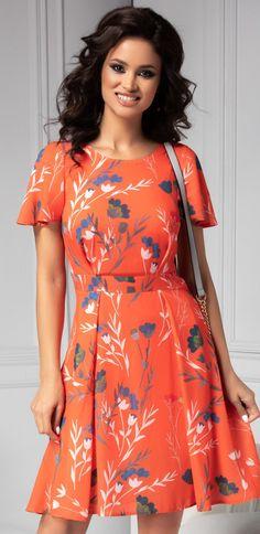 Rochie Moze de vara orange cu print floral Wrap Dress, Floral, My Style, Dresses, Girls, Fashion, Vestidos, Toddler Girls, Moda