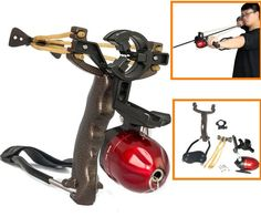 1 Set Powerful Alloy Fishing Catapult Slingshot Outdoor Hunting Shooting Games #Unbranded