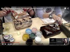 Н.Каримова_брашировка с обжигом, вживление, накладные элементы из шнура - YouTube