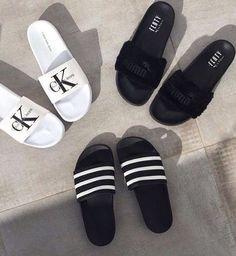 wholesale dealer ca604 ff6f8 ♡I N S T A G R A M  manarelsayed ♡ P I N T E R E S T  MANARELSAYED♡ Adidas  Slides Outfit, Adidas Sandals,