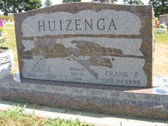Frank J. Huizenga (1919 - 1998) Jean I. Zabel Huizenga (1924 - 1991)  Frank married Jean I. Zabel on Feb. 24, 1944 in Sioux Falls, SD. Donna, Evelyn, David, Butch, Dan, Bev and Dennis were born to this union. Frank attained the age of 79 years and 12 days.