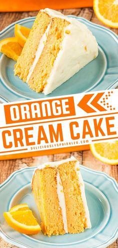 This sweet treat is sure to be a big hit! Dreams are made of this super moist orange cake topped with orange buttercream frosting. So refreshing and delicious! Make it the next time you need an easy dessert to impress! Family and friends will be running back for more! Sheet Cake Recipes, Homemade Cake Recipes, Best Dessert Recipes, Fruit Recipes, Cupcake Recipes, Easy Snacks, Easy Desserts, Delicious Desserts, Yummy Food