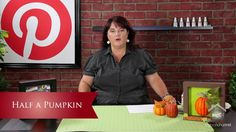 Inspired by Pinterest: Half a Pumpkin. Today on Inspired by Pinterest, Lori Allred (allreddesign.net) shares a fun tutorial on cutting foam ...