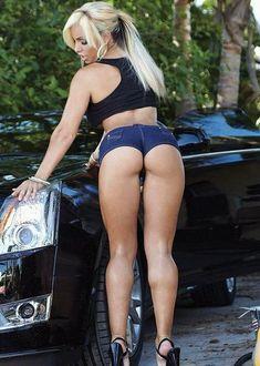 Sexy Blonde Car 98