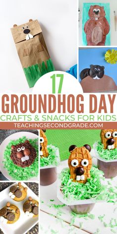 Will the groundhog see his shadow? I don't know, but I CAN tell you that these groundhog day crafts and activities are a fun way to beat the winter blues. Source by Glitterinthird and me activities Groundhog Day Activities, Winter Activities, Kindergarten Activities, Activities For Kids, Preschool Groundhog, Preschool Curriculum, Winter Crafts For Kids, Easy Crafts For Kids, Winter Kids