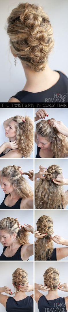 Ou, crie essa bela linha de coque para um visual fofo.   17 penteados lindos para cabelos naturalmente cacheados
