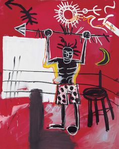 Jean-Michel Basquiat Now's The Time. The Ring, 1981