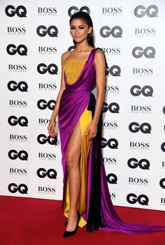 Red Carpet Dresses - Best of Red Carpet of 2018 Zendaya Coleman In Ralph & Russo Couture – 2018 GQ Men Of The - Zendaya Outfits, Zendaya Style, Dress Outfits, Fashion Outfits, Fashion Clothes, Fashion Fashion, Fashion Women, High Fashion, Gala Dresses