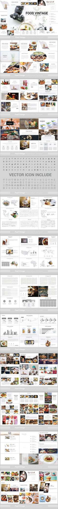 Food Vintage Powerpoint Template. Presentation Templates