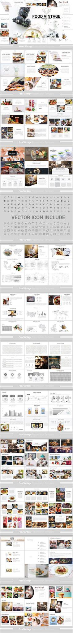 Food Vintage Powerpoint Template. Presentation Templates