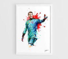Manuel Neuer Bayern Munich A3 Wall Art Print Poster by NazarArt