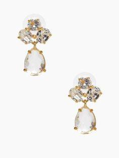 kate spade cluster drop earrings - kate spade new york