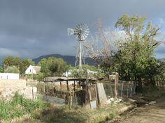 Windpump Prince Albert Velvet Sky, Smell Of Rain, Windy Day, Prince Albert, Windmills, Farms, South Africa, Landscapes, Sketches