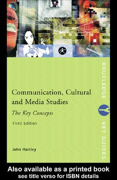GLOSSARY OF TERMS in media and culture.  Hartley, J. (2003). Communication, Culture & Media Studies. Taylor & Francis.