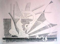Dessin 2014 - Numéro 4 Février Graphite sur papier Canson CA grains 180 gr  25 x 32,5 cm