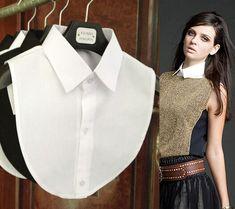 False Collar White/Black Blouse Detachable Collars Doll Collar Falscher Kragen 2016