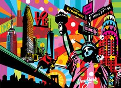 New York | Lobo | Pop Art #ny #popart www.lobopopart.com