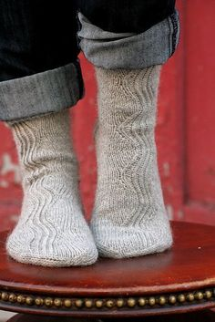 Beautiful Kalajoki socks from Falling Stitches Pattern: Kalajoki by Tiina Seppälä