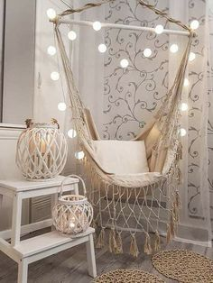 Intellectual contributed meditation room decorations ready to see a change is part of Room decor - Cute Bedroom Ideas, Cute Room Decor, Room Ideas Bedroom, Bedroom Decor, Swing In Bedroom, Meditation Room Decor, Meditation Chair, Aesthetic Room Decor, Cozy Room