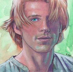 Cary Elwes as Westley from The Princess Bride Done on 6x6 inch Aquabord with Winsor & Newton Gouache Paints