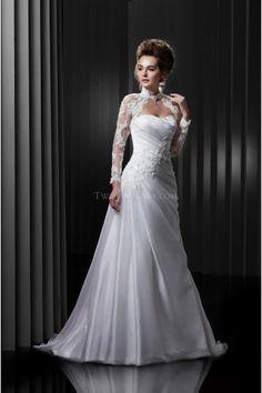 Elegant Liefje Tule Applique Bruidsjurken Online