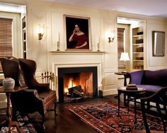 11 Charming Dens with Fireplaces