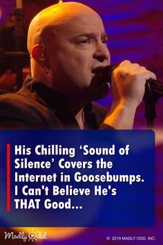 """""""His Chilling Sound of Silence Covers the Internet in Goosebumps."""" This song from 1964 is an American classic but youve never heard a version like this. Sound Of Music, Live Music, Kinds Of Music, Music Hits, Mp3 Song, Music Songs, Music Videos, Music Quotes, Sound Of Silence Disturbed"""