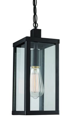One Light Hanging Lantern