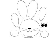 Wood Crafts, Diy And Crafts, Crafts For Kids, Arts And Crafts, Bunny Crafts, Easter Crafts, Easter Templates, Bunny Party, Diy Bookmarks