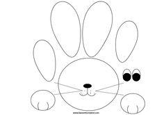 SAGOME PASQUA Sagome utili per realizzare un coniglio di carta, di compensato o di feltro da attaccare alle porte e ai vetri delle finestre di scuola o di