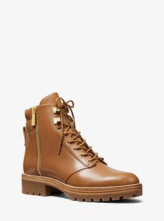 32188d49444 Michael Kors   Rosario Leather Combat Boot Smooth Leather
