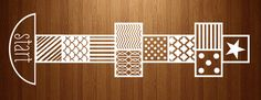 Hopscotch decal- just stick it on and start hopping! Cool pattern and so easy!     www.beautifulwalldecals.com