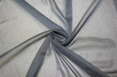 """Apparel Fabric Gray Chiffon Knit Sheer 60"""" 100% Polyester Sewing BTY Dress"""